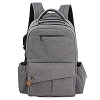 572bfd8c1684 【ALLCAMP】 3wayマザーズバッグ リュック 大容量 多機能 ベビーバッグ ママのバックパック (グレー)