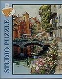 グッチ GUCCI 運河に沿って花byジョージ・・グッチの一部として彼のイタリア運河コレクション–1000ピースパズル