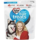 Love'em Beef Liver Dog Treats 250 g