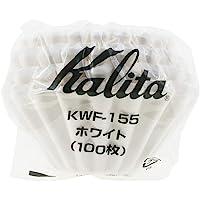 Kalita (カリタ) コーヒーフィルター ウェーブシリーズ ホワイト 1~2人用 100枚入り KWF-155 #2…