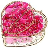 Kaman-co 6本の香りのバラの花びら、入浴ボディーソープ、ウェディングパーティーの装飾ギフト、バレンタインデーの贈り物 (HP)