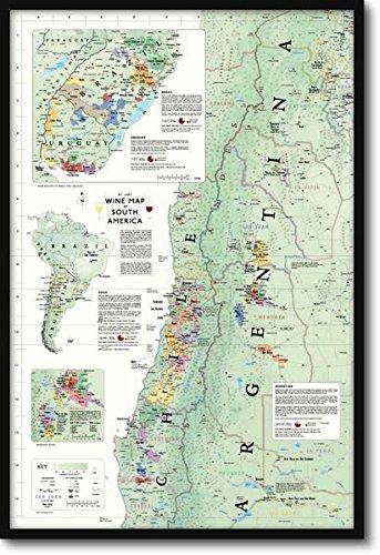 南アメリカ ワインマップ Wine Map of South America【正規品】