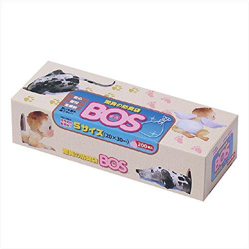 驚異の防臭袋 BOS (ボス) Sサイズ 大容量 200枚入り 【袋カラー:ピンク】BOS-2030-200
