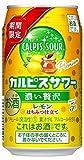 「カルピスサワー」期間限定 濃い贅沢レモンはちみつ仕立て 缶 350ml×24本