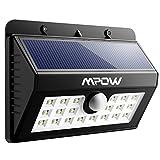 Mpow 20 LED ソーラーライト センサーライト 外灯 玄関ライト 人感センサー 夜間自動点灯 電気代ゼロ 屋外照明/軒先/壁掛け/庭先/玄関周りなどのライト 夜間自動点灯 防犯用