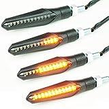 シーケンシャル LEDウインカー 4個セット バイク用 汎用 流れるウインカー