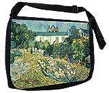 アーティストVincent van Gogh 'sドービニーの庭02?TMラップトップメッセンジャーバッグ+小さなワイヤ/ノートパソコン/ノートブックコンピュータアクセサリーケースセット- - - - - - -