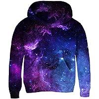 Funnycokid Teen Hoodies 3D Print Pullover Fleece Sweatshirts Hooded Jumpers 3-10Y