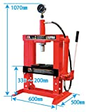 JTC 10tプレス(メーター付き) プレス 圧入作業  大型機器 設備機器 油圧機器 認証工具 能力10トン メーター付 JTC10003C