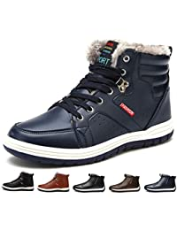 [Sixspace] スノーブーツ メンズ 防水 防寒靴 スノーシューズ 防滑 アウトドアシューズ ウィンターブーツ 綿雪靴 滑り止め