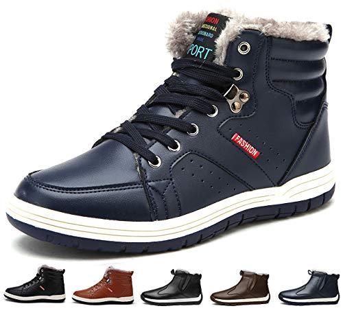 Sixspace スノーブーツ メンズ 防水 防寒靴 スノーシューズ 防滑 アウトドアシューズ ウィンターブーツ 綿雪靴 滑り止め ブルー 25.5cm