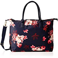 Joules Kembry Coated Canvas Luggage One Size French Navy Bloom Print
