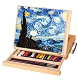 AZAKBL 卓上 イーゼル 多機能 木製 イーゼル 油絵 スケッチ 角度調整可能 携帯 ポータブル