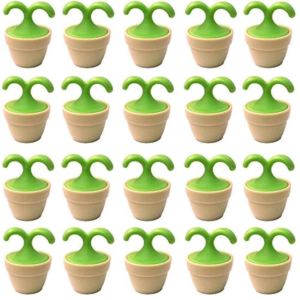 ワイド国内の買い物に行く植木鉢コロコロマッサージャー 20個入り 退職転勤お礼プチギフト 専用ボックス入りラッピング サンキューシール付き(20個入り)