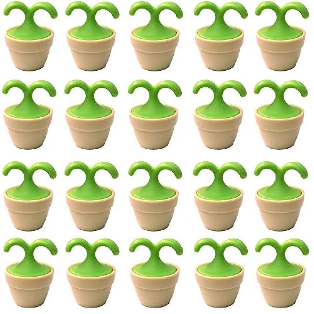 エンドテーブルシビック優遇植木鉢コロコロマッサージャー 20個入り 退職転勤お礼プチギフト 専用ボックス入りラッピング サンキューシール付き(20個入り)
