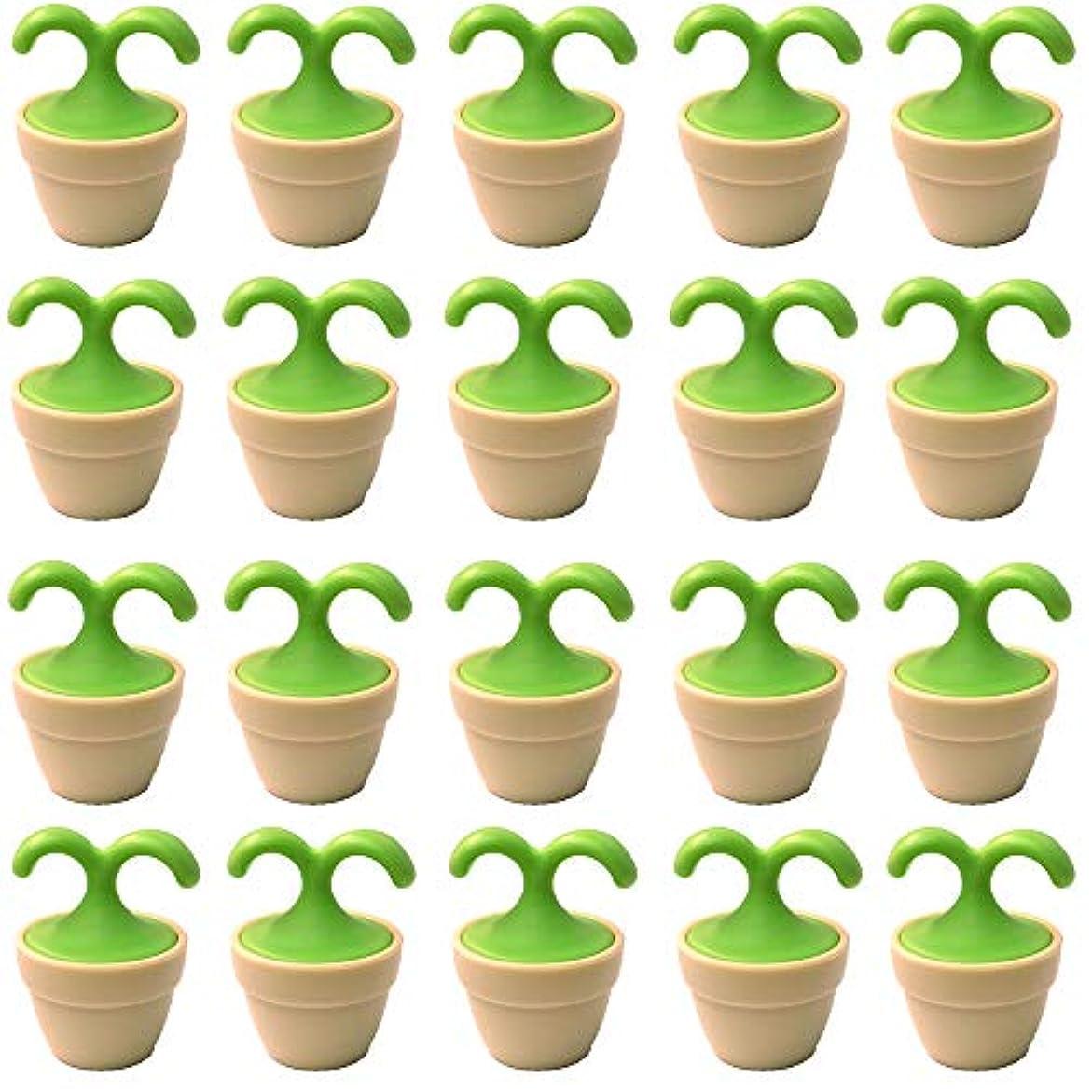従事した芽自慢植木鉢コロコロマッサージャー 20個入り 退職転勤お礼プチギフト 専用ボックス入りラッピング サンキューシール付き(20個入り)