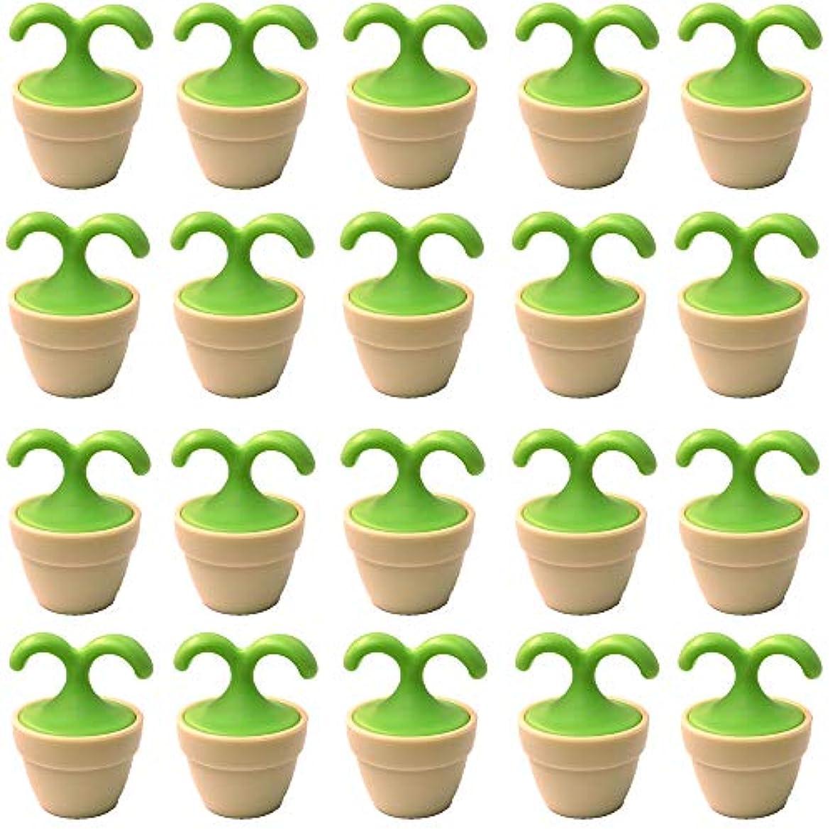 支配的サンダルセールスマン植木鉢コロコロマッサージャー 20個入り 退職転勤お礼プチギフト 専用ボックス入りラッピング サンキューシール付き(20個入り)