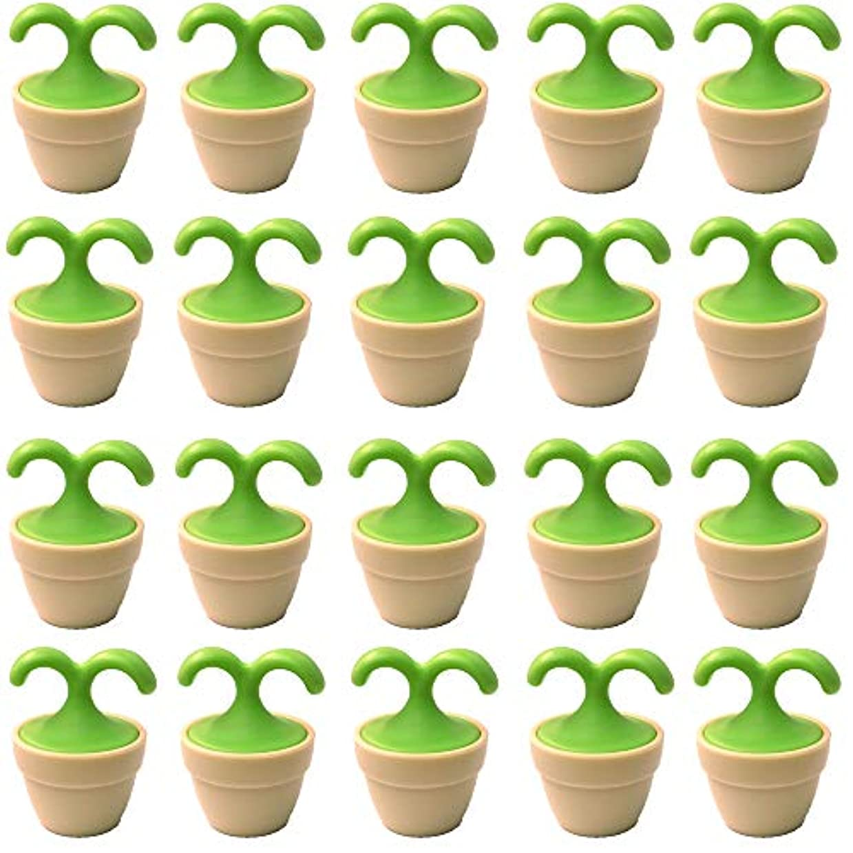 ボタン瞬時にまっすぐにする植木鉢コロコロマッサージャー 20個入り 退職転勤お礼プチギフト 専用ボックス入りラッピング サンキューシール付き(20個入り)