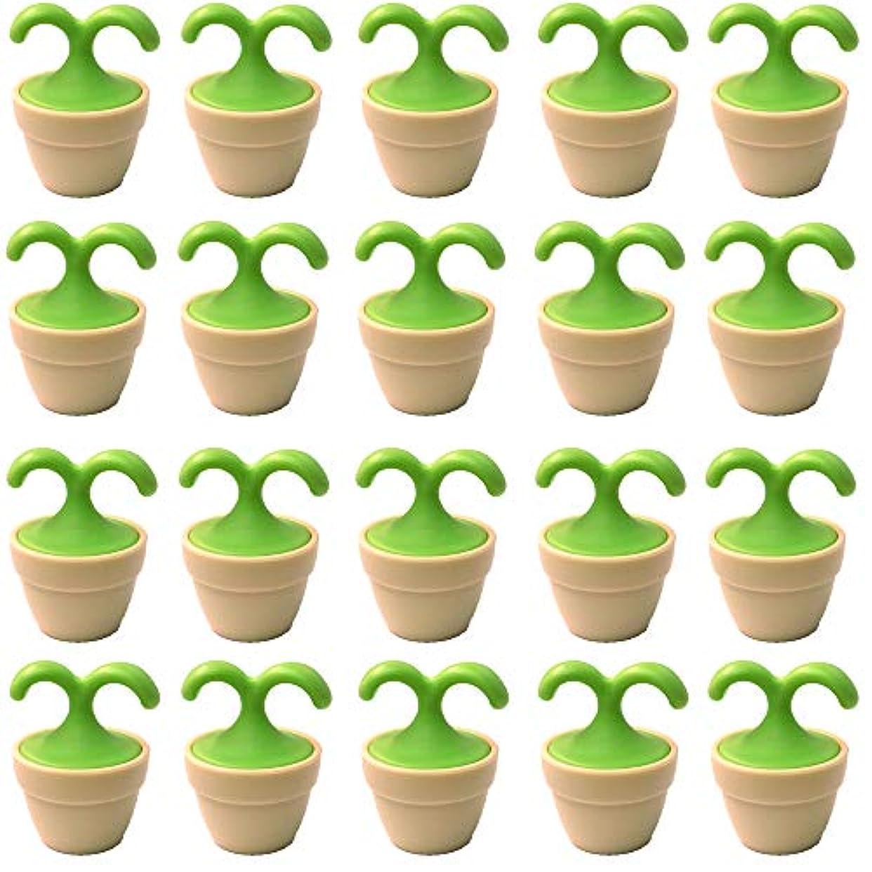 アコードインデックスどこでも植木鉢コロコロマッサージャー 20個入り 退職転勤お礼プチギフト 専用ボックス入りラッピング サンキューシール付き(20個入り)