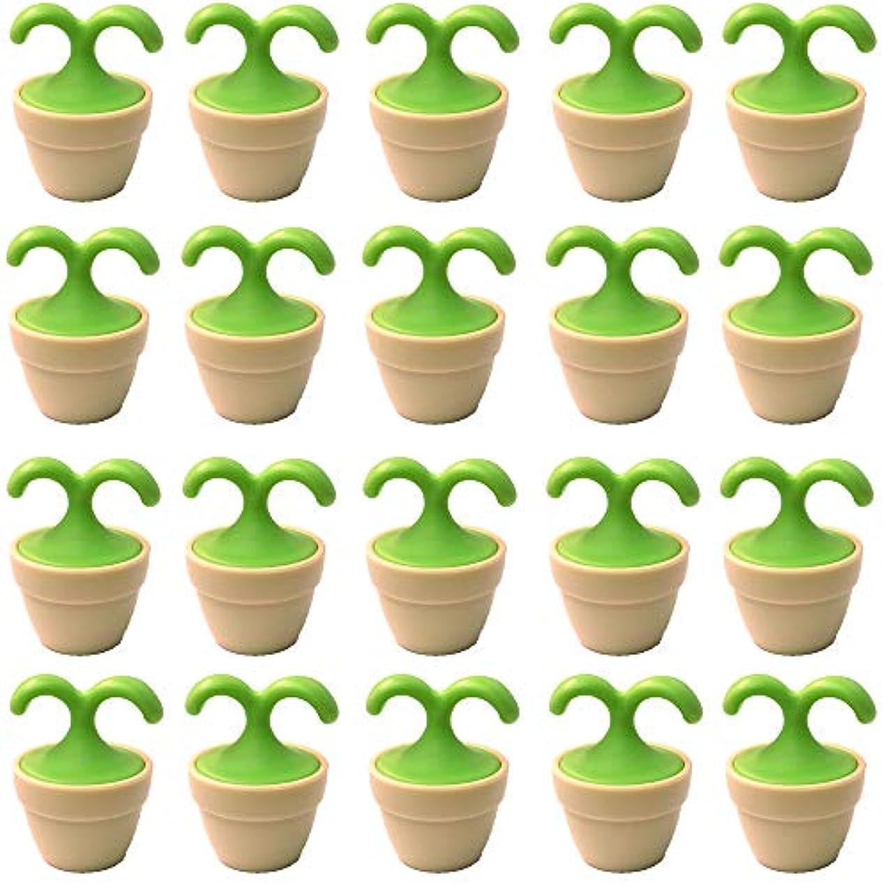 テレックス太陽まろやかな植木鉢コロコロマッサージャー 20個入り 退職転勤お礼プチギフト 専用ボックス入りラッピング サンキューシール付き(20個入り)