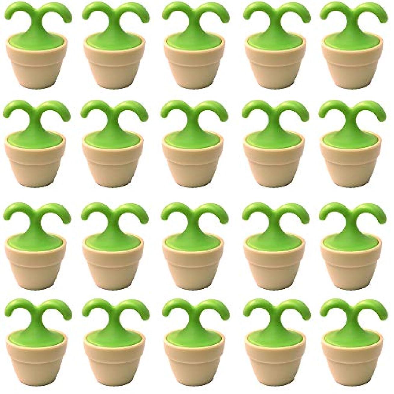 無視欠陥モデレータ植木鉢コロコロマッサージャー 20個入り 退職転勤お礼プチギフト 専用ボックス入りラッピング サンキューシール付き(20個入り)