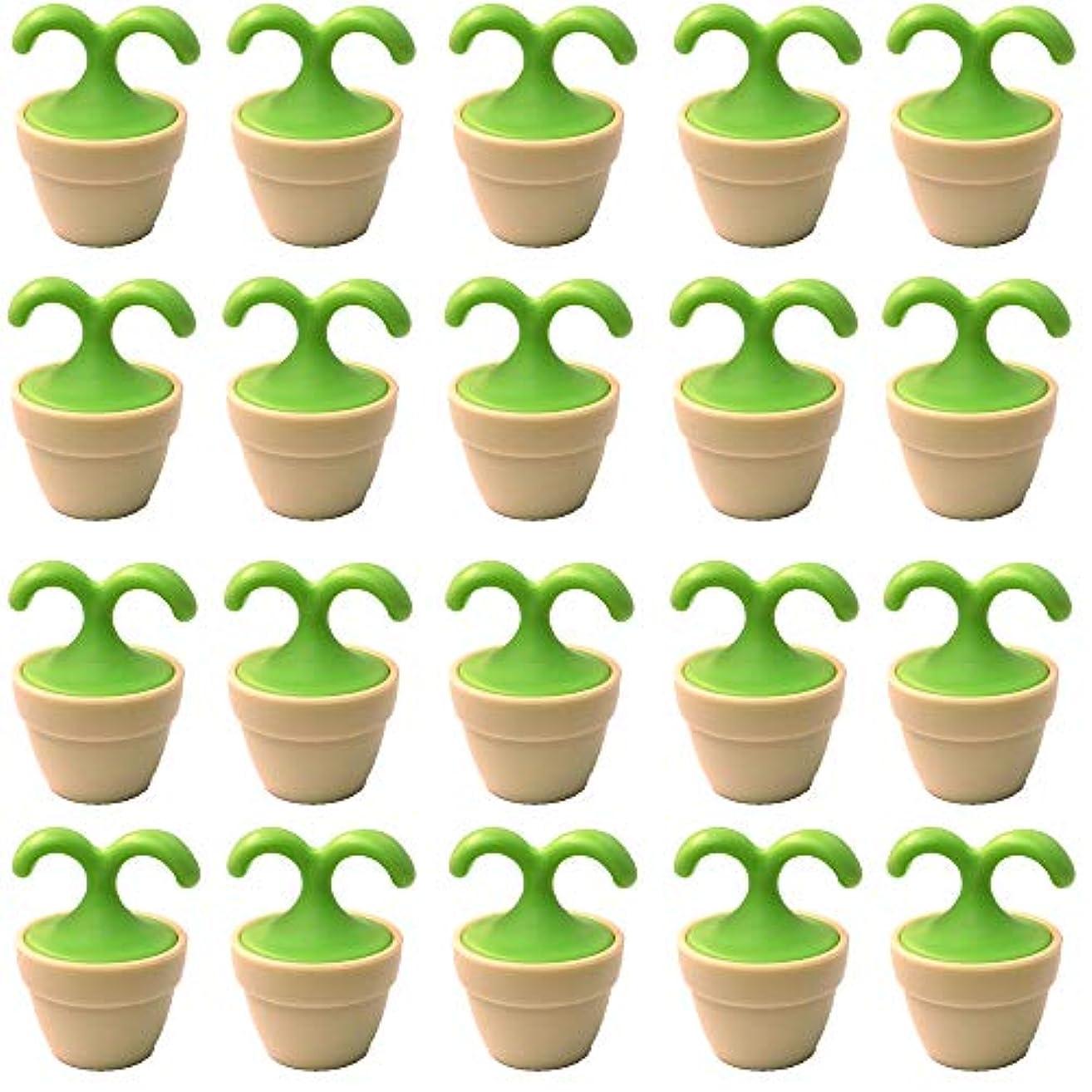 植木鉢コロコロマッサージャー 20個入り 退職転勤お礼プチギフト 専用ボックス入りラッピング サンキューシール付き(20個入り)
