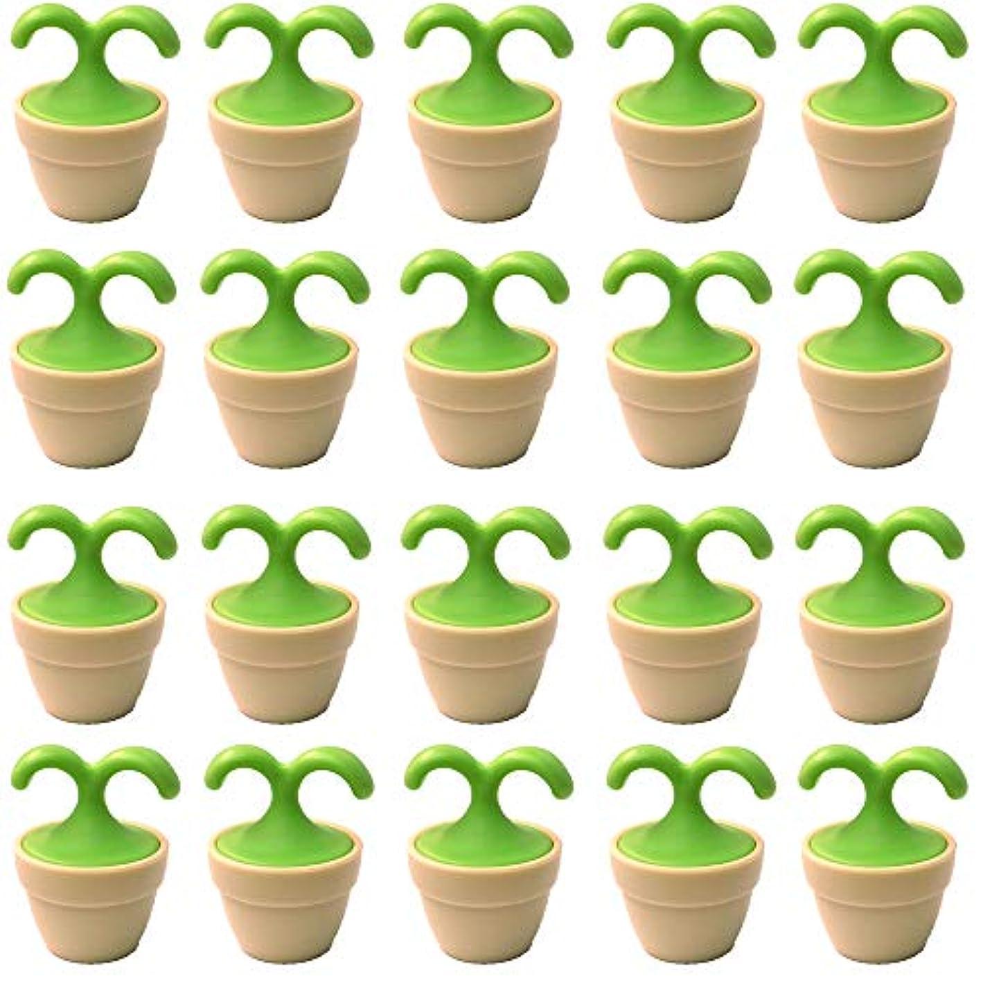 精通した団結エンディング植木鉢コロコロマッサージャー 20個入り 退職転勤お礼プチギフト 専用ボックス入りラッピング サンキューシール付き(20個入り)