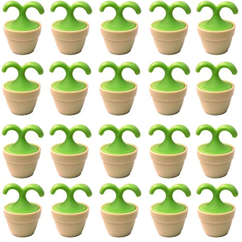 キャッチ第二にマラドロイト植木鉢コロコロマッサージャー 20個入り 退職転勤お礼プチギフト 専用ボックス入りラッピング サンキューシール付き(20個入り)