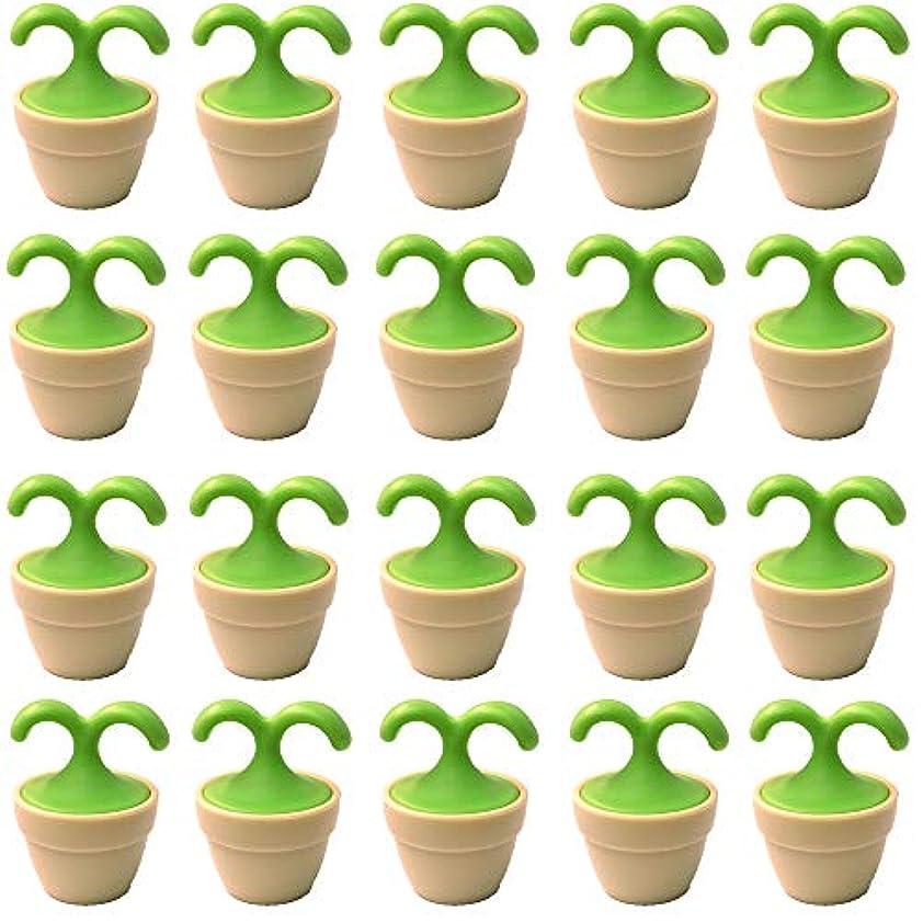 バーマド今日ある植木鉢コロコロマッサージャー 20個入り 退職転勤お礼プチギフト 専用ボックス入りラッピング サンキューシール付き(20個入り)