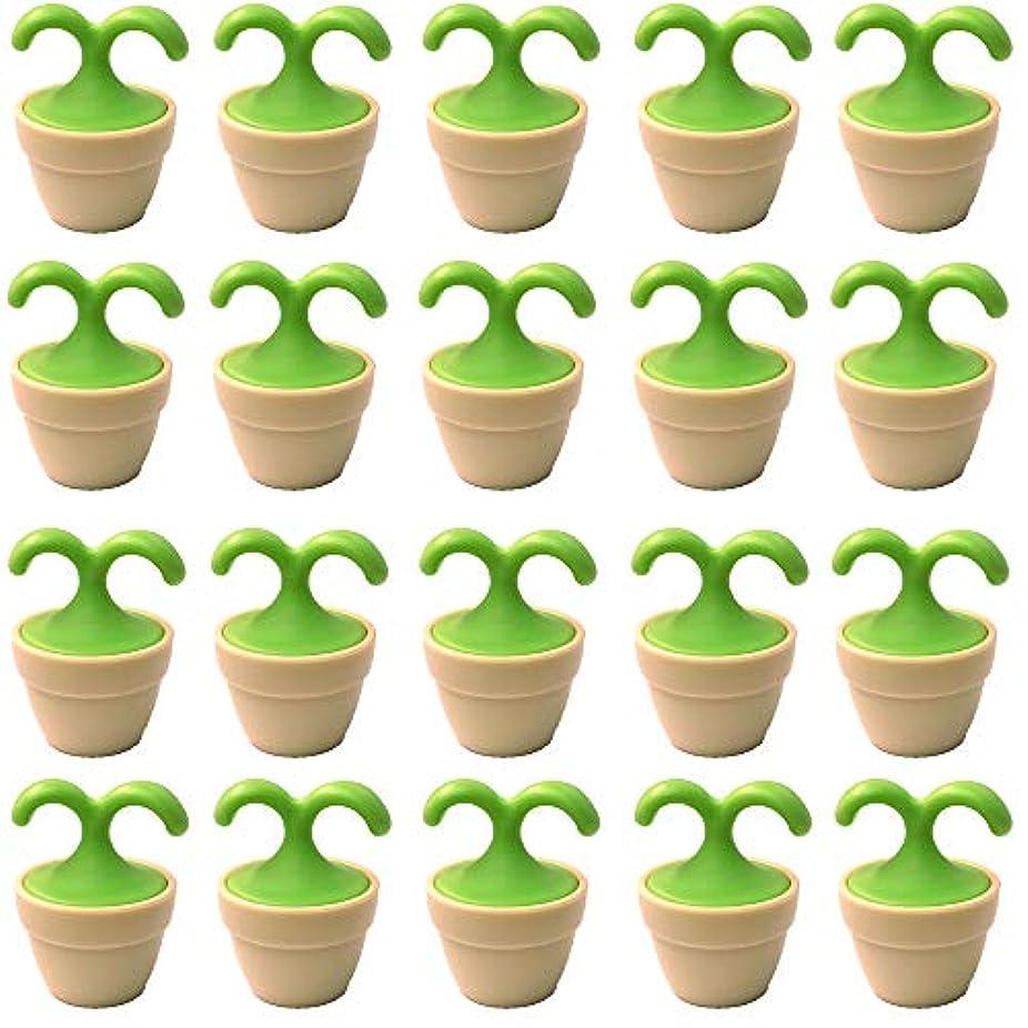 仲良し酸素アンソロジー植木鉢コロコロマッサージャー 20個入り 退職転勤お礼プチギフト 専用ボックス入りラッピング サンキューシール付き(20個入り)