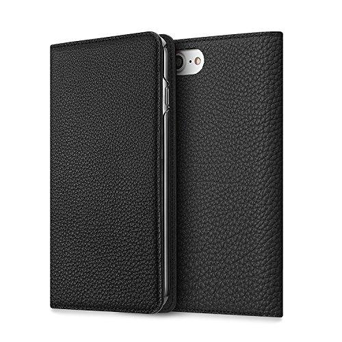 iPhone 8 / 7 ケース BONAVENTURA ボナベンチュラ German leather diary case (ブラック)