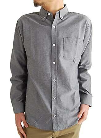 (アーケード) ARCADE 10color メンズ 春 シャツ オックスフォード ボタンダウンシャツ 長袖シャツ カジュアルシャツ XL チャコール(レギュラーボタン)