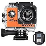 4K WiFiアクションカメラスポーツカメラアクションカメラSOOCOO s100Proタッチスクリーン、ウルトラHD防水DVビデオカメラ20MP 170度ワイド角度2インチLCDスクリーン/ 2電池/ 17Mounting kits-orange S100 Pro-OE