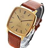 OMEGA(オメガ) デビルアンティーク メンズ腕時計 (中古) 自動巻き ゴールド GP レザーベルト(社外) ライトブラウン [並行輸入品]