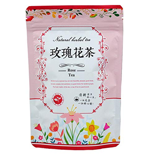 花茶 バラ茶100g 薔薇茶 ハーブ ローズ エディブルフラワー ローズレッド ハーブ 美癒しの カフェイン無しで 無添加 無農薬 ビタミンC豊富 しい香り 甘い 女性 老人