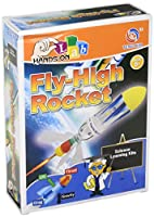 Fly High Rocket Science Kit Scientific Learning and Exploration Experiment Air Pressure, Water Powered Design Girls and Boys