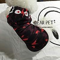 FidgetGear ファッションbapeサメ迷彩ペット猫犬服コート暖かい子犬セーターシャツパーカー ピンクのサメ