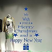 Tovadoo ウォールステッカー 壁紙シール 窓 クリスマスツリー HAPPY NEW YEAR クリスマス飾り おしゃれ リフォーム 模様替え 多色