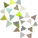 雑貨の国のアリス ペナントバナーセット 飾り付け 2枚セット 装飾 誕生日 三角旗 [並行輸入品]