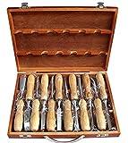 高級 プロ仕様 彫刻刀 12本セット 専用収納ケース付 ノミ のみ 蚤 篆刻刀 DIY