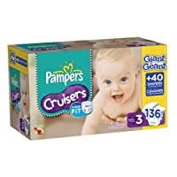 Pampers Cruisers Diapers Size 3 Giant Pack, 136 Count by Pampers
