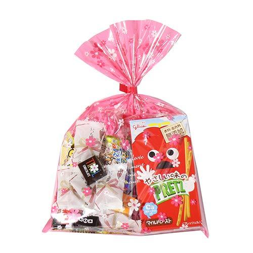 花柄袋 380円 お菓子 チョコレート 詰め合わせ(Dセット) 駄菓子 袋詰め おかしのマーチ