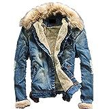 (ネルロッソ) NERLosso ブルゾン メンズ ジャンパー スタジャン 大きいサイズ ミリタリージャケット ライダースジャケット L ブルー cme24126-L-bu