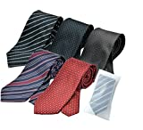 ビジネスマンサポート 洗えるネクタイ 5本セット 洗濯ネット付き p-a3c3d3g3m3
