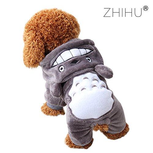 Zhihuベット用品フード付きペット服小中型犬用着物春秋冬パ...