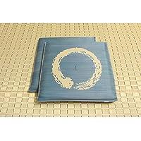 純国産/日本製 捺染返し い草座布団 『大関 2枚組』 ブルー 約55×55cm×2P ds-862321