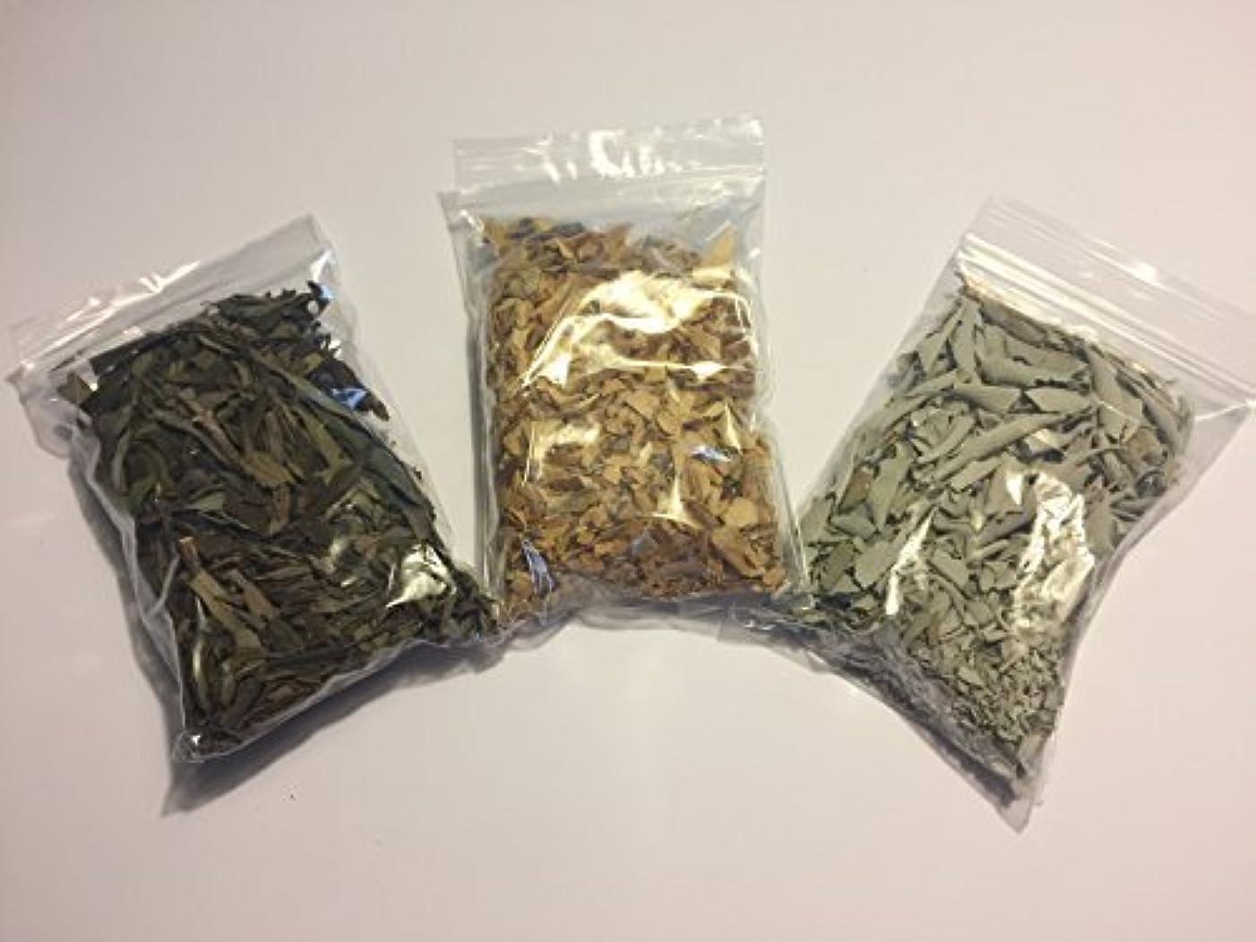 入植者壊滅的なホットLoose Leaf Variety Smudge Kit includes White Sage Lavender and Palo Santo Flakes [並行輸入品]
