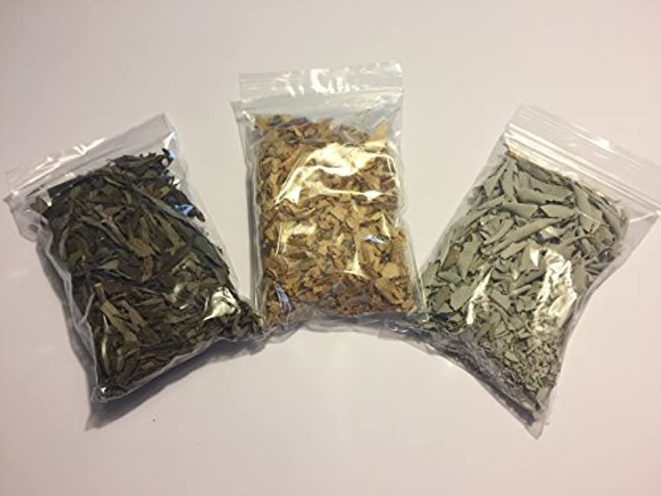 反対する誤解を招く加害者Loose Leaf Variety Smudge Kit includes White Sage Lavender and Palo Santo Flakes [並行輸入品]