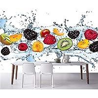 Wuyyii 3D壁紙カスタム写真不織壁画新鮮なフルーツ水スプレー3D壁壁画壁紙用リビングルーム装飾絵画