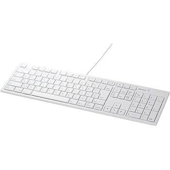iBUFFALO フルキーボード USB接続 パンタグラフ Macモデル ホワイト BSKBM01WH